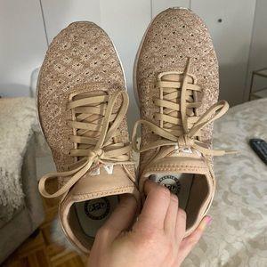 Rose gold APL sneakers